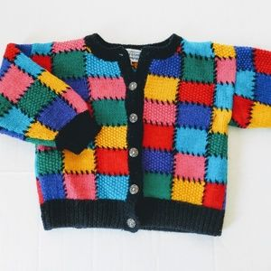 One of a Kind Patchwork Cardigan Size 3/4